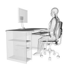 office ergonomics, office desk and chair